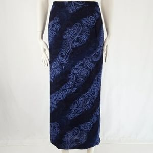 Gianni | Long Paisley Fully Lined Maxi Skirt